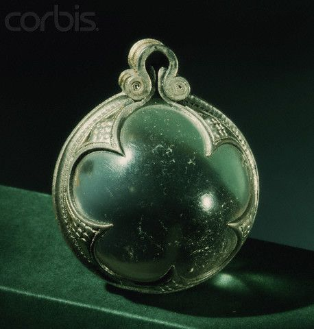 Viking pendant with rock crystal sphere Silver-mounted rock-crystal sphere influenced by Slavic tradition. From the Lilla Rone hoard discovered at Gotland. Statens Historiska Museum, Stockholm, Sweden.