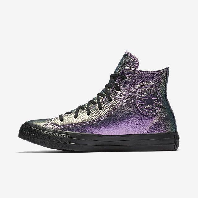 b7d31aacaee115 Converse Chuck Taylor All Star Iridescent Leather High Top Women s Shoe  Size 11 (Purple)