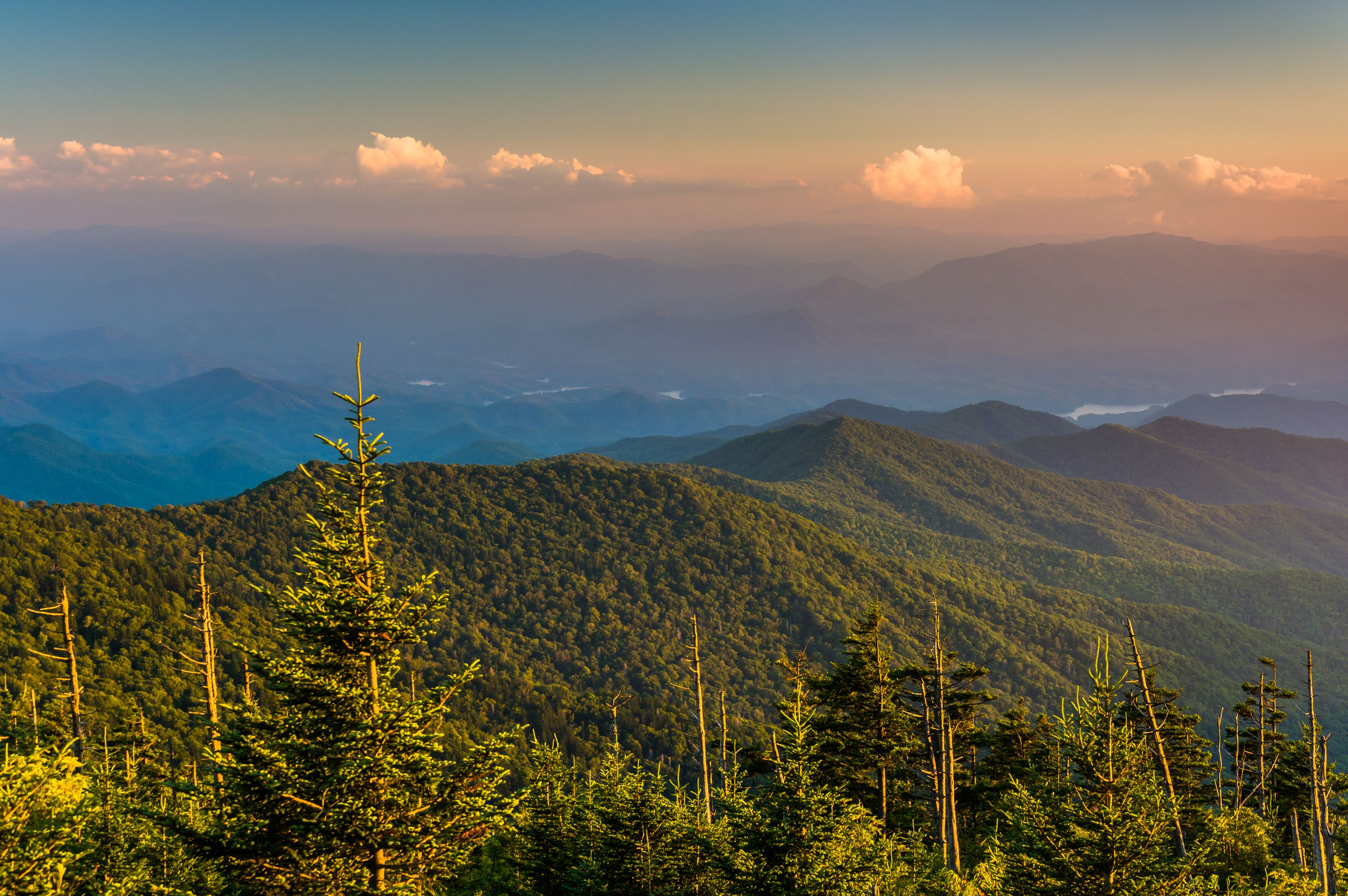 Beautiful skies over the Great Smoky Mountains