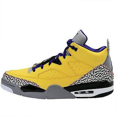 brand new 14290 178c4 Nike Jordan Son Of Low Mens 580603-708 Tour Yellow Cement Grape Shoes Size  11.5