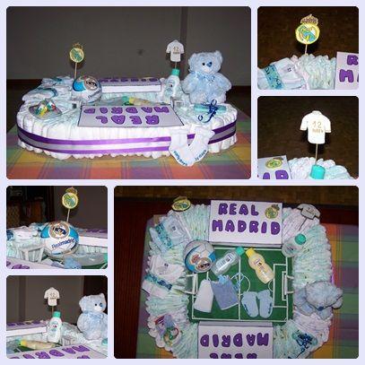 Tarta De Panales Campo De Futbol Real Madrid Panales Regalos