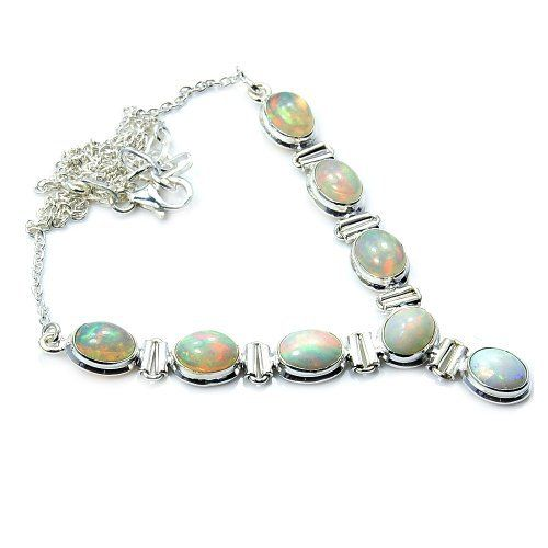 'Eternal Flame' Gorgeous Sterling Silver Ethiopian Opal Y-shaped Necklace  Price : $159.95 http://www.silverplazajewelry.com/Gorgeous-Sterling-Silver-Ethiopian-Y-shaped/dp/B00JHP7U5C