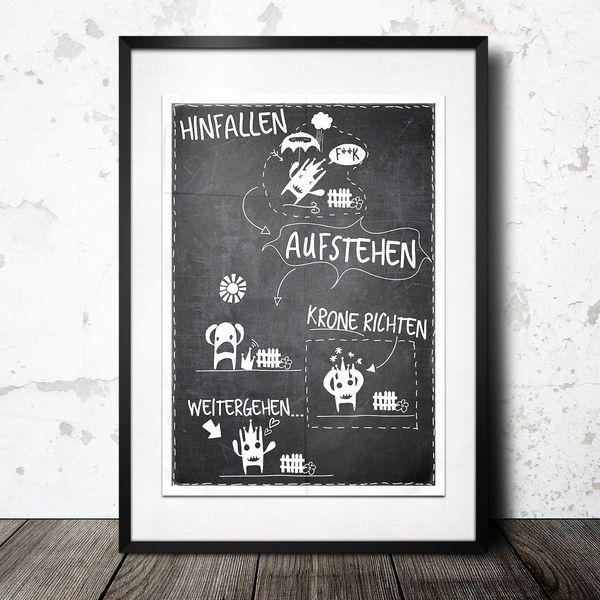 ♥HINFALLEN AUF STEHEN KRONE RICHTEN ♥ von InkDrip auf DaWanda.com