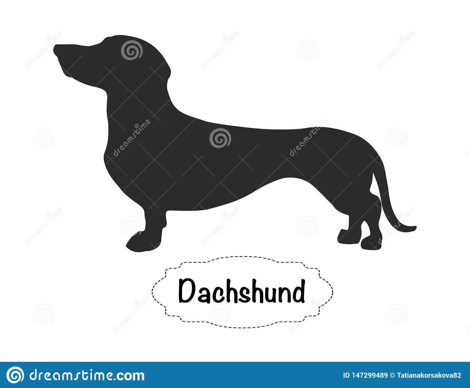 Illustration About Vector Isolated Silhouette Of Dachshund On