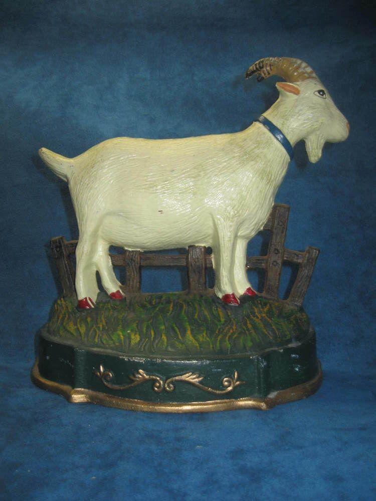 Vintage Large Cast Iron Goat Ram Doorstop Unique Topes De Puerta