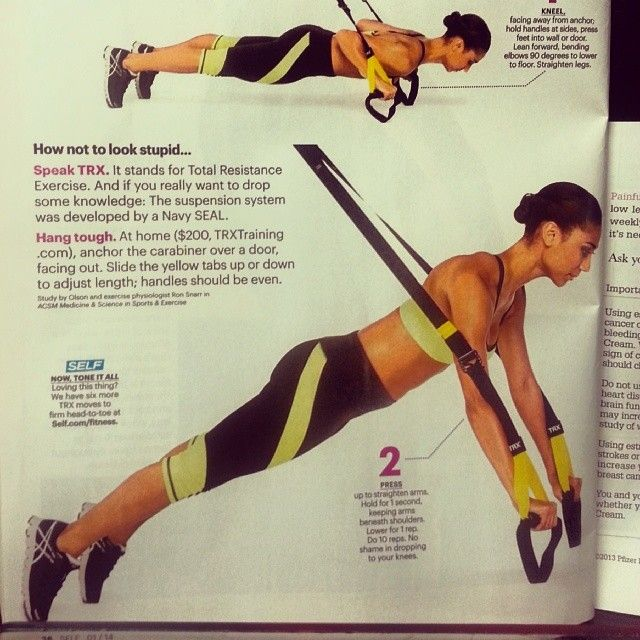 Magazines usually get it wrong but Self did a good job with this one. This is how the TRX push-up should look. #TRX www.roypumphrey.com