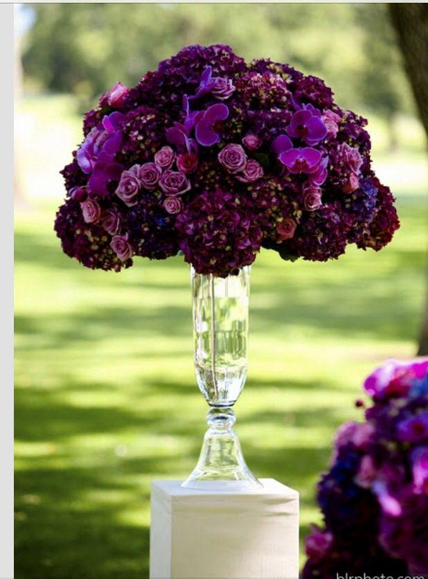 Plum wedding flowers Purple wedding flowers Wedding flowers
