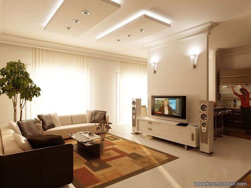 Modernlivingroomtvwallunits17Inwhitecolor  Modern Living Room Custom Living Room Showcase Designs Images Design Ideas