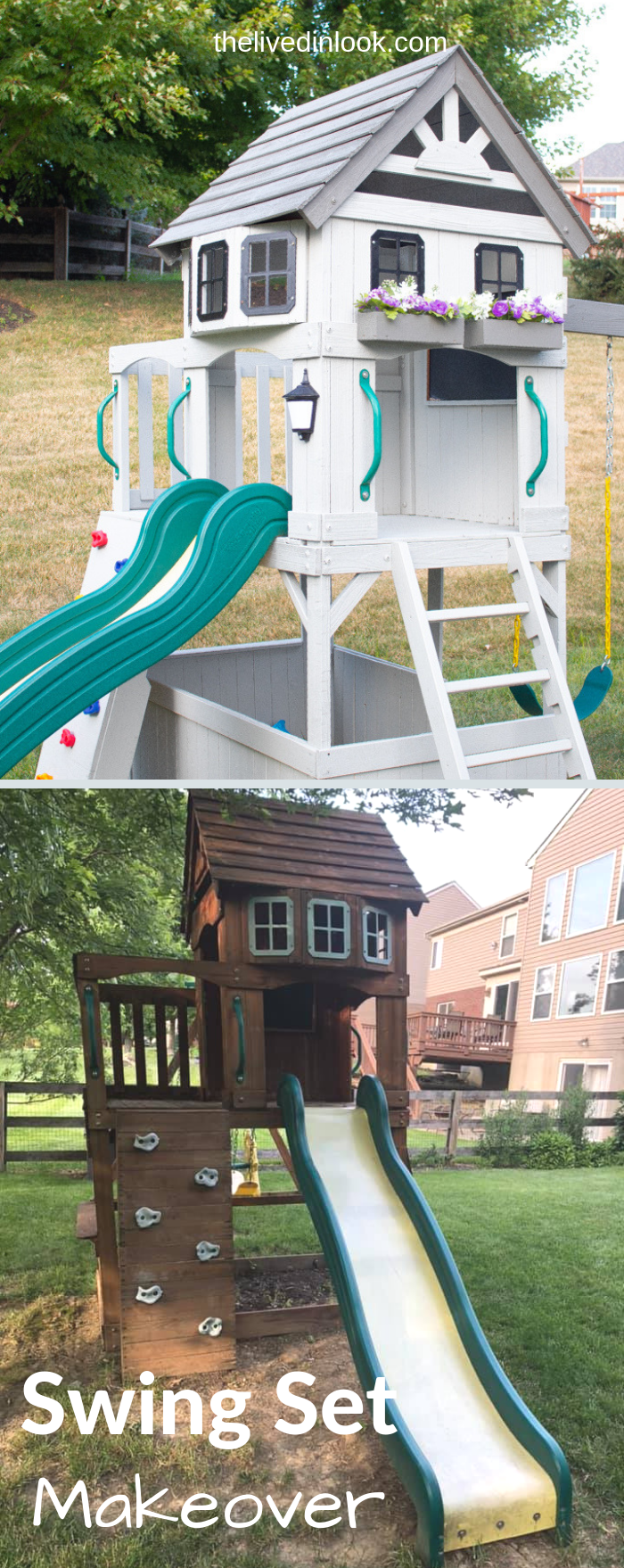Our Swing Set Makeover: How to Make Old Look New Again ...