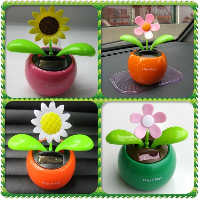 Pin By Jessica Coelho On Dancing Flower Pots Solar Solar Flower Car Decor Crafts