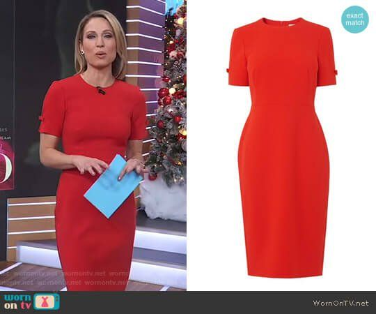 Amy's Red Bow Sleeve Dress On Good Morning America