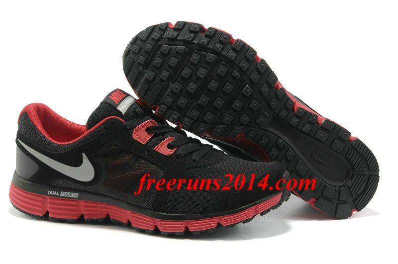 Mens Nike Dual Fusion ST 2 BlackSport RedDark Grey