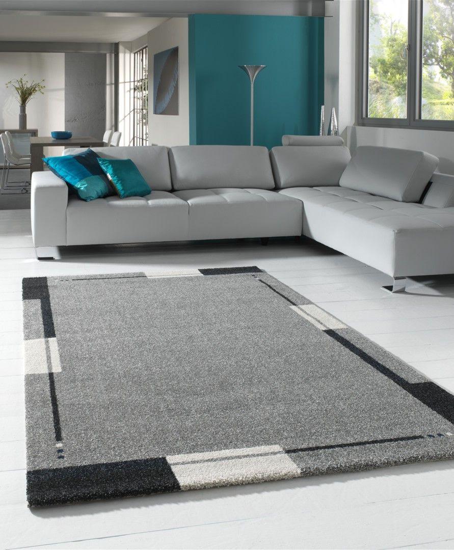 tapis-de-salon-contemporain-gris-flume.jpg (891×1080) | Sofás ...