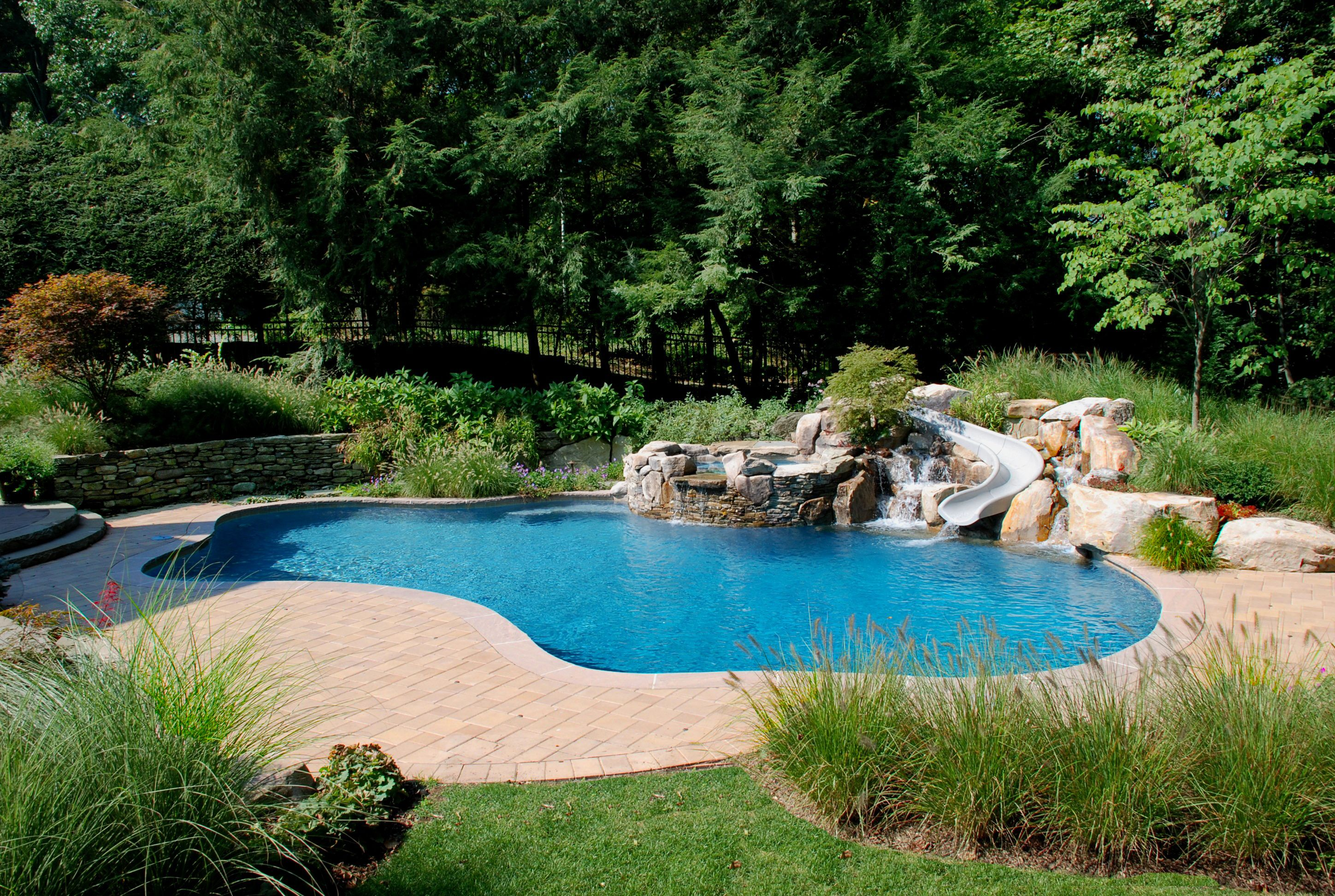 Freeform swimming pool design, wish this was your pool ... |Small Freeform Pools With Waterfalls