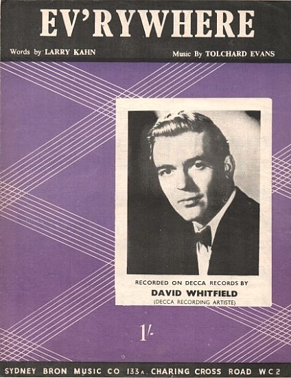 Santo Natale - David Whitfield 1954 Sheet Music Merry Christmas