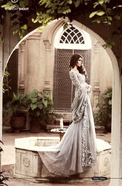 Highfashionpakistan Pakistani Model Amna Babar Bridal Elegance