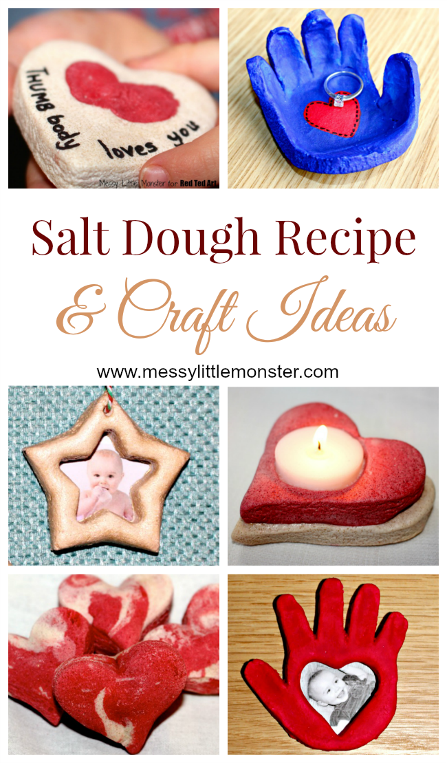 How to make salt dough - Easy salt dough recipe and craft ideas #saltdoughrecipe