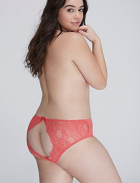 a959b9a9cae Open-Back Lace Hipster Panty with Split Gusset | Lane Bryant | Riley ...