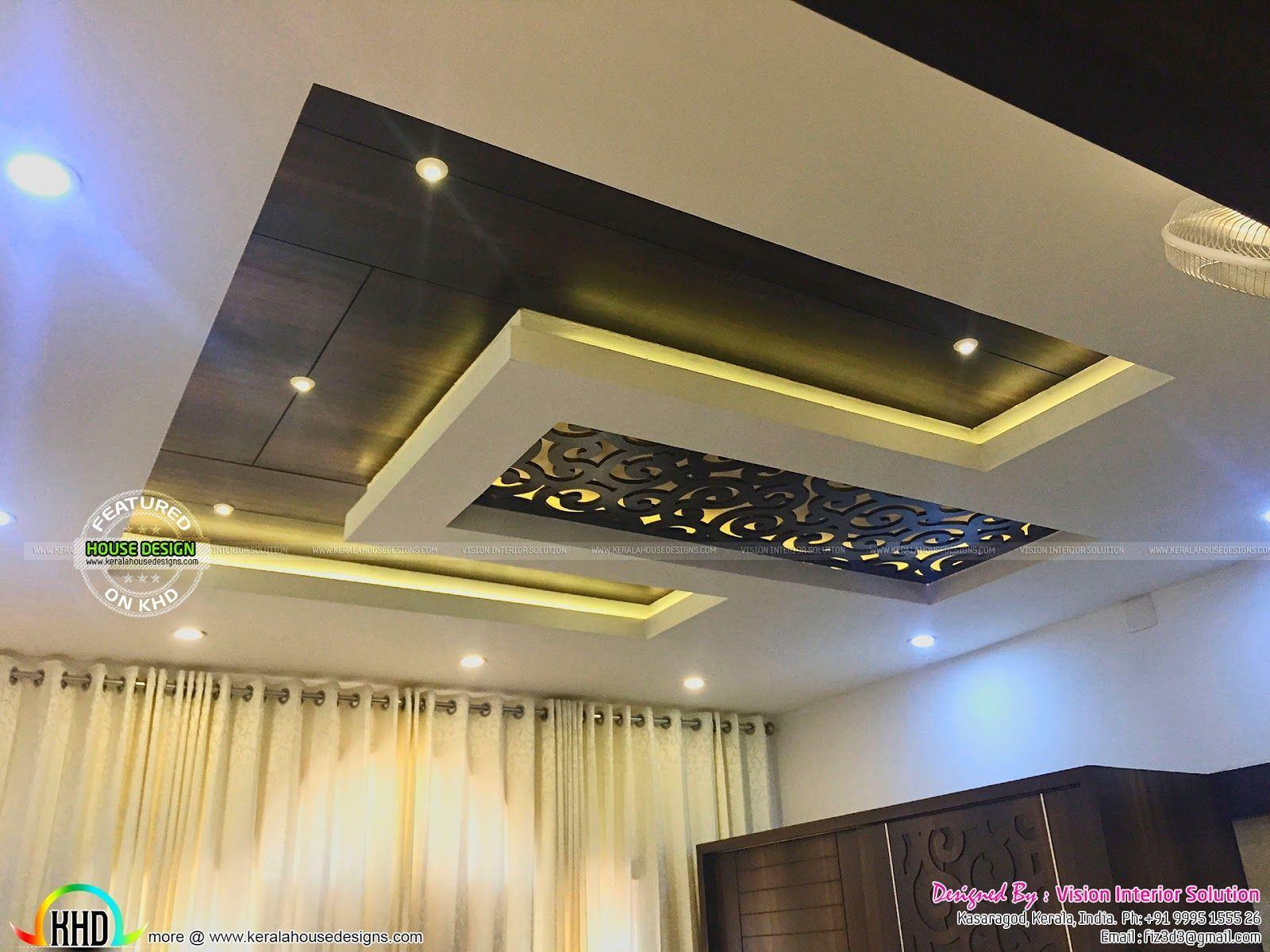 False Ceiling Design Kerala | Ceiling design living room ...