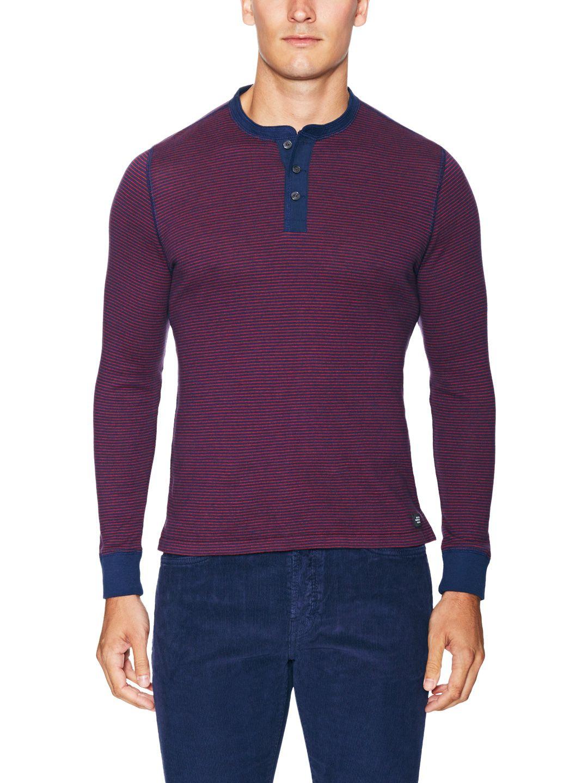05a3bb47 Striped Cotton Chandler Henley   Men Fashion   Mens fashion:__cat__ ...