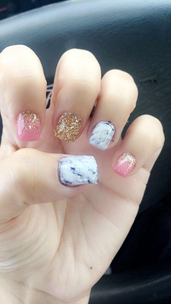 40 Cute Winter Nail Art Designs Short Acrylic Nails Designs Short Acrylic Nails Square Nail Designs