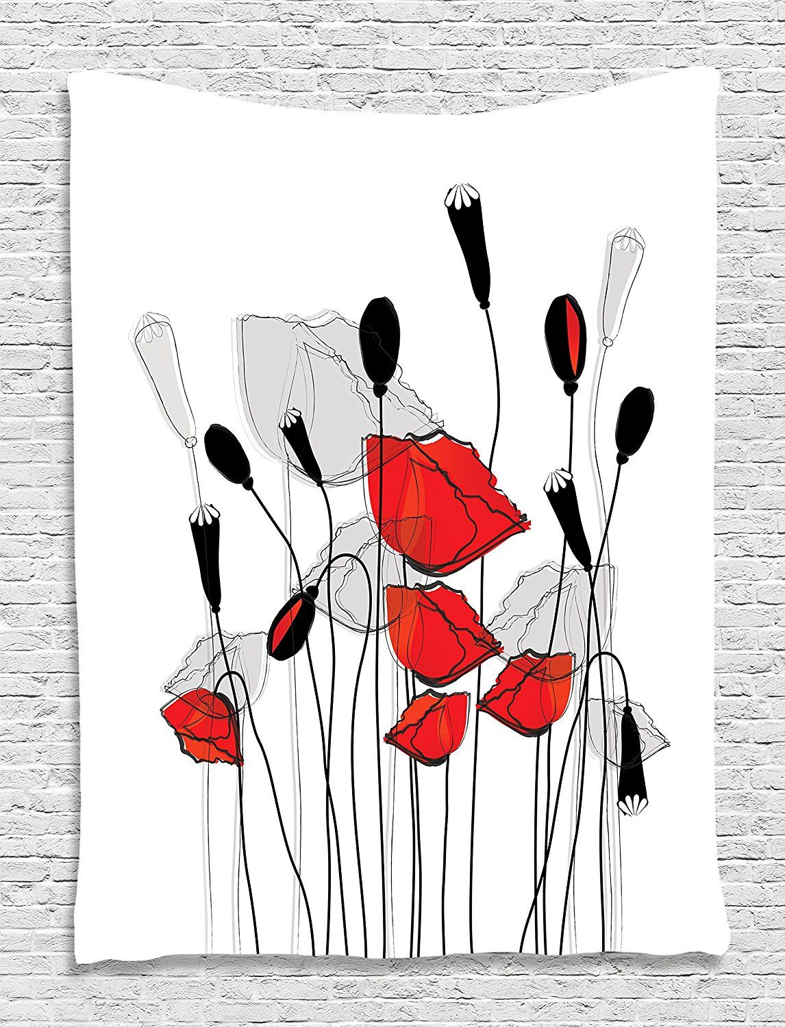 Blooming flowers poppy poppies floral decor bouquet garden branches