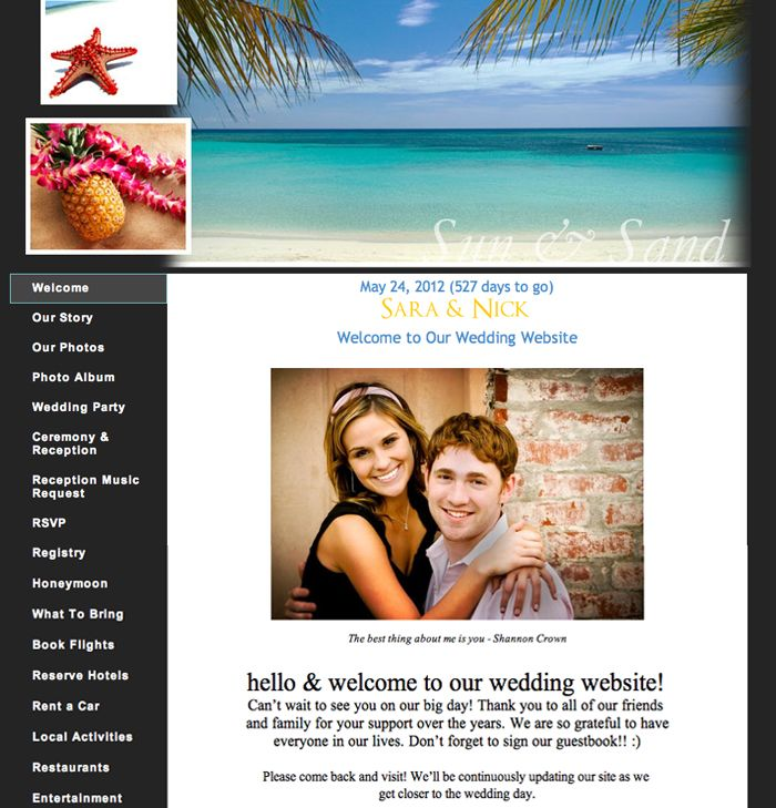 Wedding Planning 101 Build An Awesome Wedding Website Website