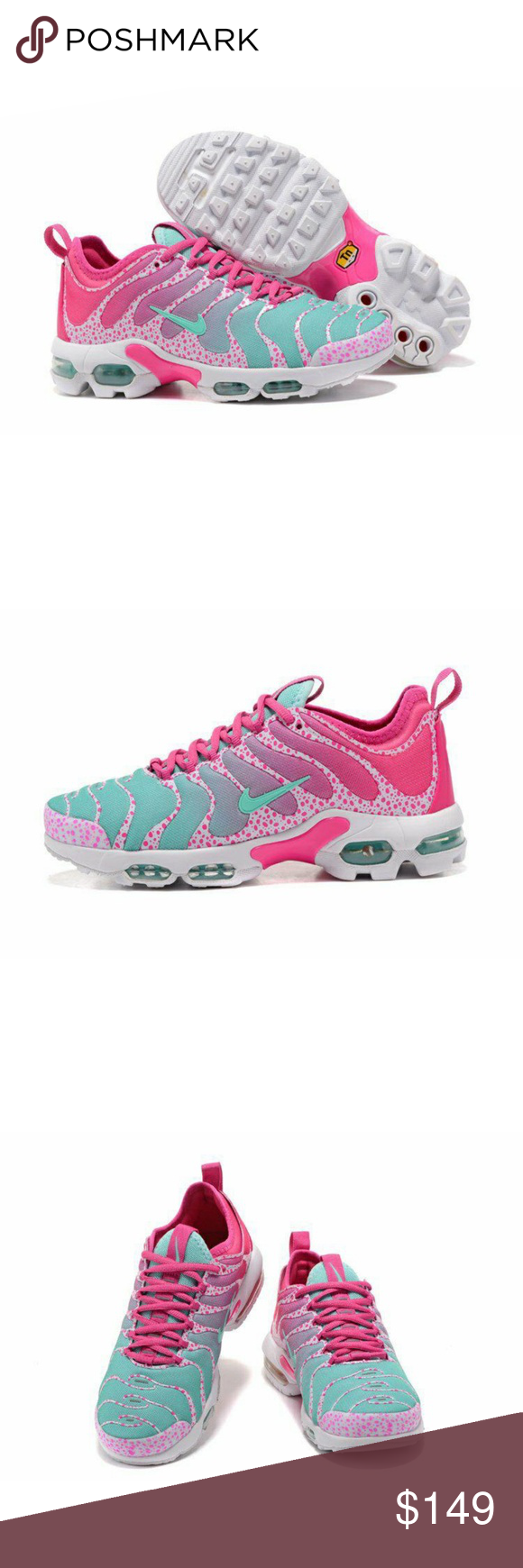 0812c0bbc5a86 Nike Air Max Plus TN Ultra New Arrivel Nike Air Max Plus TN Ultra Pink Blue  White 881560 438 Women s Running Shoes Sneakers Nike Shoes Sneakers