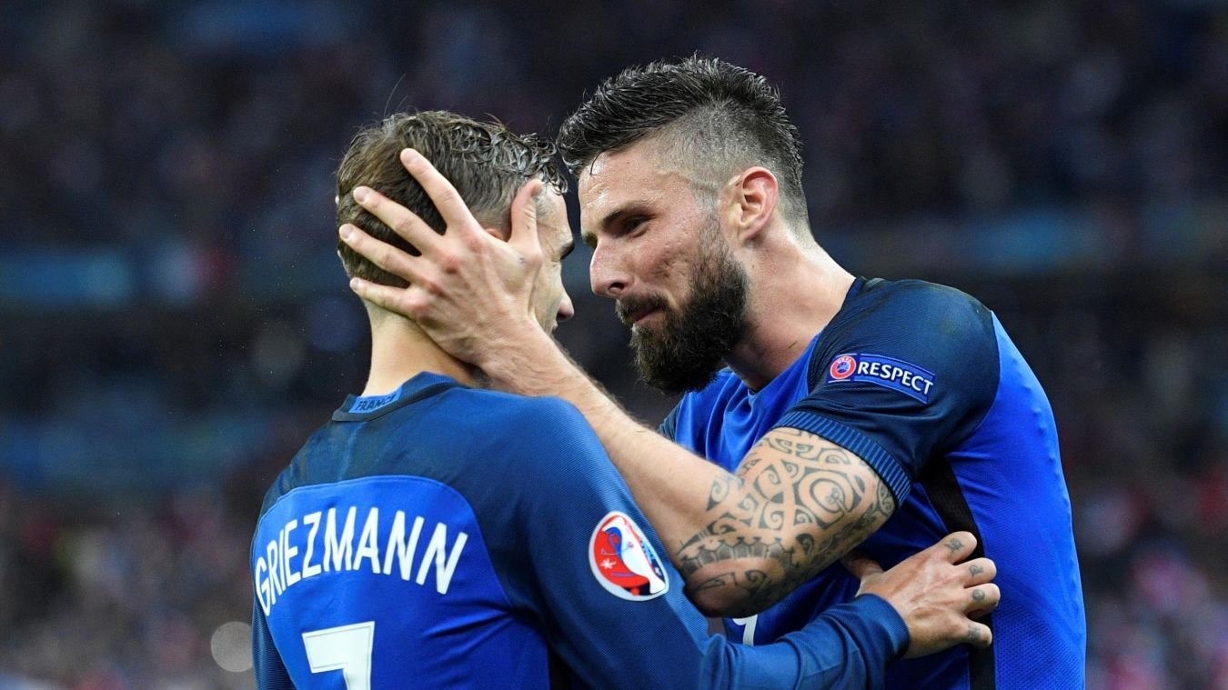 Image result for Olivier Giroud with Antoine Griezmann
