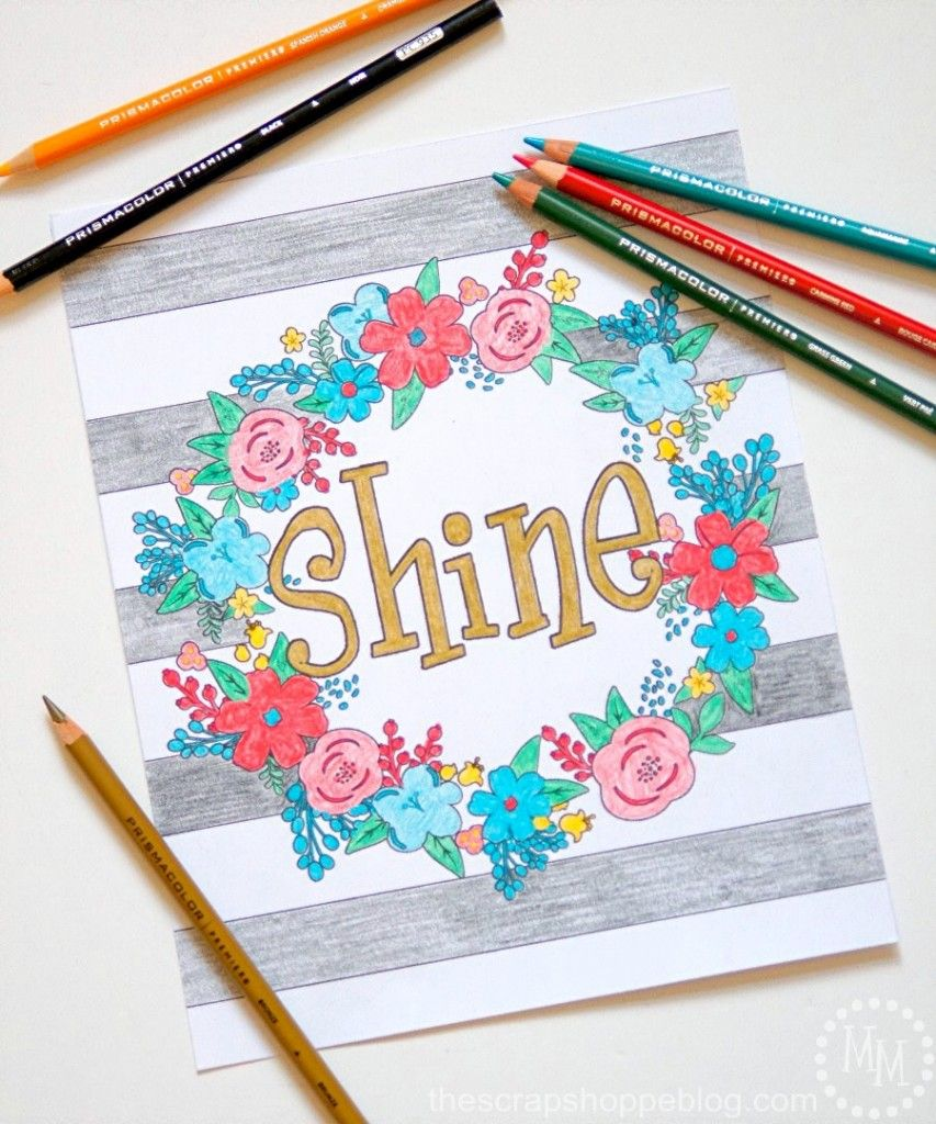 Free coloring pages home - 10 Free Typographic Coloring Pages