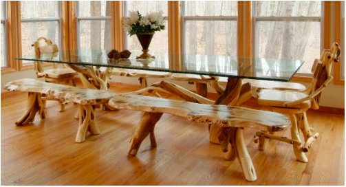 It Is A Twisted Work Of Art And Each Branch Has A Story To Tell Each Twisty Log Has Colorful Stre Rustic Dining Room Unique Dining Tables Dining Table Rustic