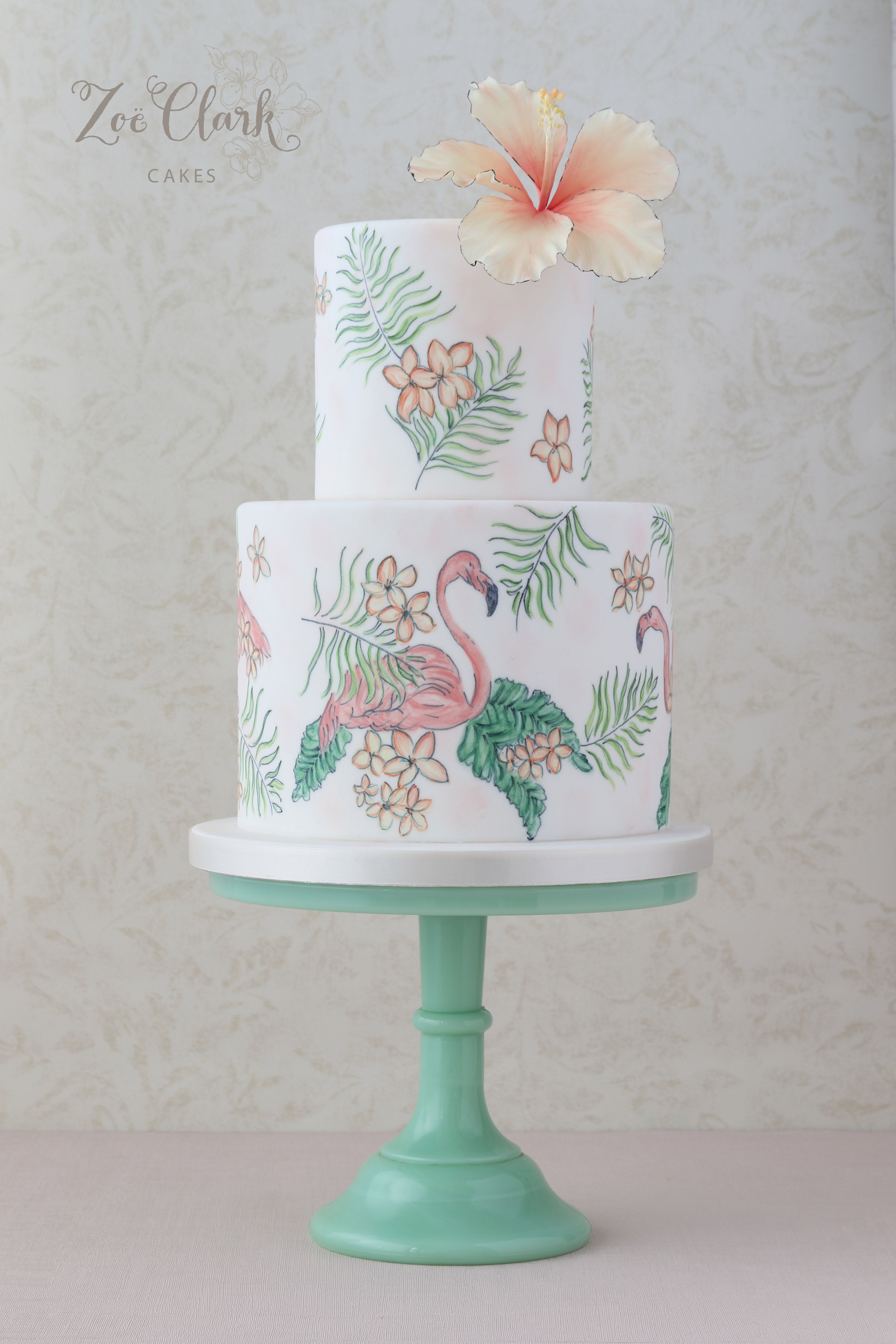 Painted Flamingo Cake For Havana Shoot Cakes Flamingo