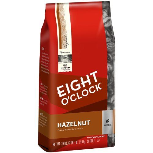 Eight O'Clock Hazelnut Whole Bean Coffee, 33-Ounce Bag - http://hotcoffeepods.com/eight-oclock-hazelnut-whole-bean-coffee-33-ounce-bag/