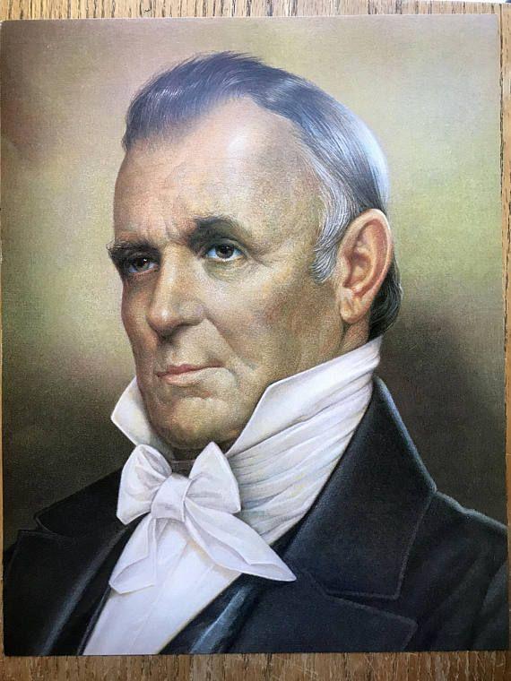 15th President James Buchanan Color Portrait 11 X 14 Published