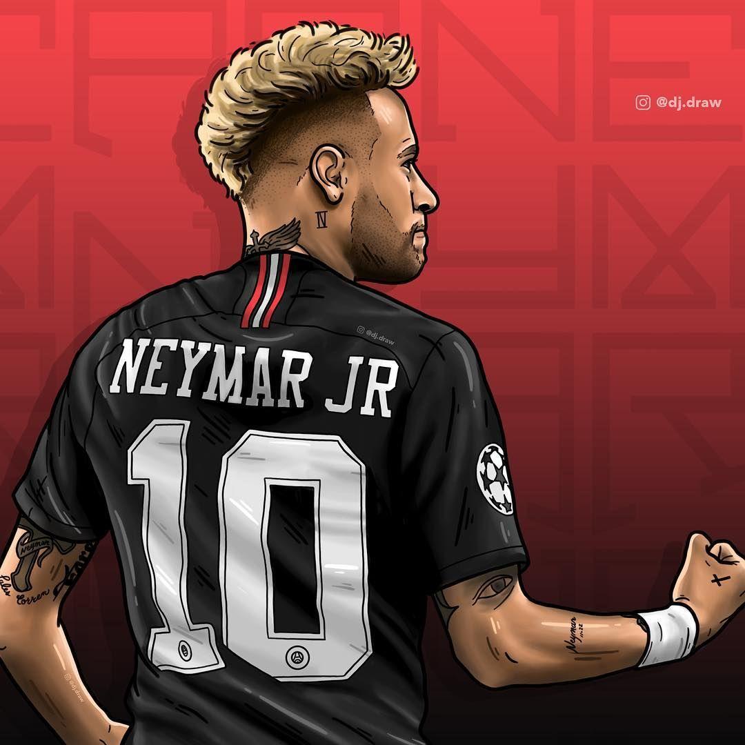Neymarjr Psg Dibujos De Futbol Psg Futbol Psg