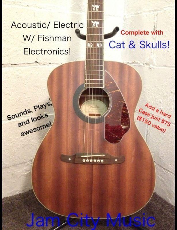 FENDER TIM ARMSTRONG HELLCAT ACOUSTIC ELECTRIC, FISHMAN ELECTRONICS #Fender #Hellcat 304-374-3194 www.jamcitymusicusa.com www.jamcitycentral.com