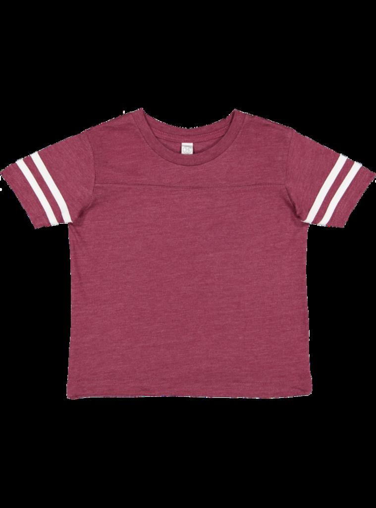 1a604fd16 Toddler Fine Jersey Crew Neck Short Sleeve Football Tee #ToddlerFashion  #ToddlerApparel #Tshirt #Football #FanGear #TeamWear #SpiritWear  #YourLogoGuru