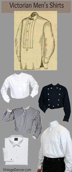 da7da39a3b0 Victorian mens shirts  styles for gentlemen