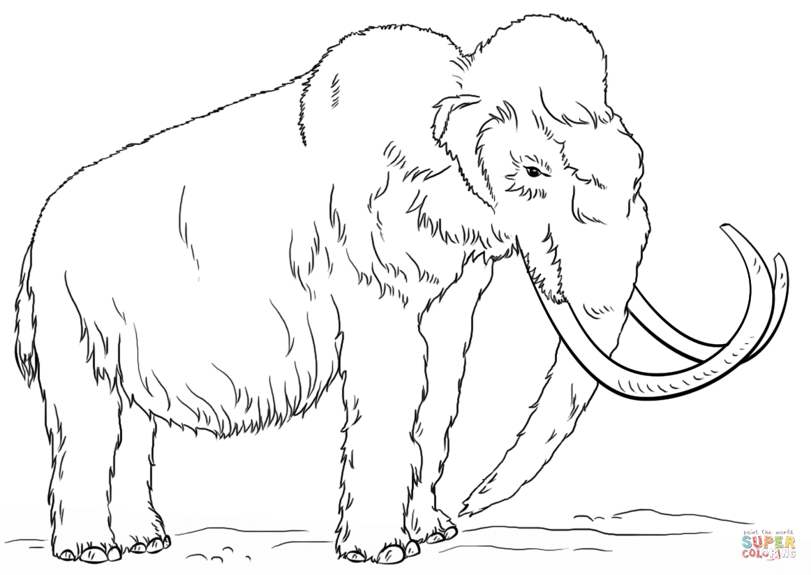 Woolly Mammoth Coloring Page Free Printable Coloring Pages Animal Coloring Pages Drawings Wooly Mammoth