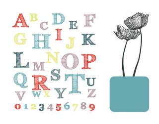 free ABC printable art for girls