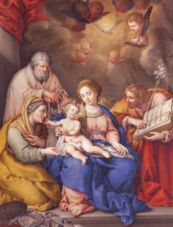 Sagrada Familia con San Joaquín y santa Ana.