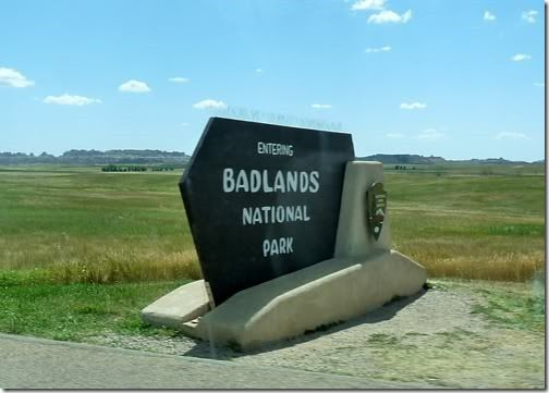The Badlands, South Dakota | that photo shows nothing of the awe-inspiring drop to come.  HA!!  Oh i wish I'd had more time here.