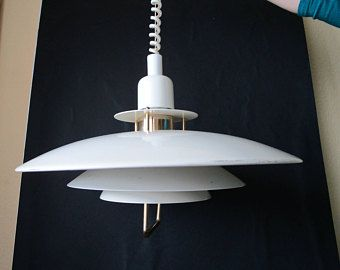 SALE Beautiful Danish Classic White Ceiling Light Mid Century Modern