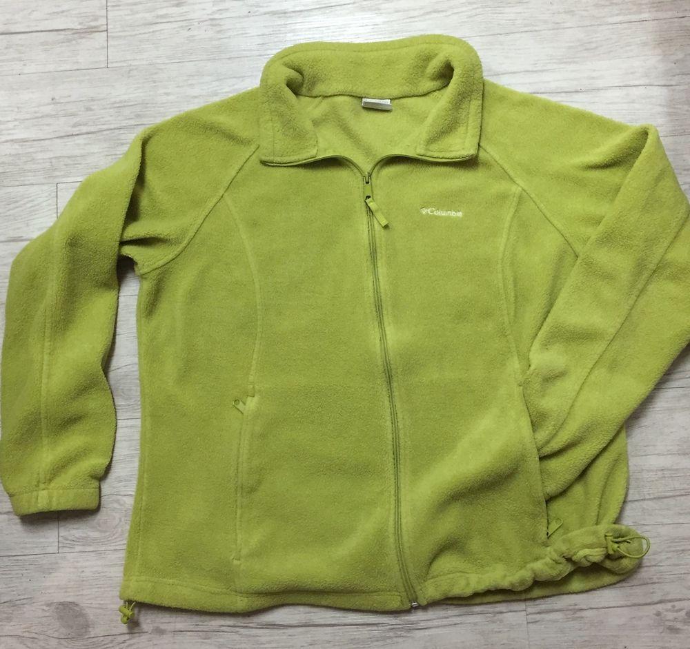 ostaa hyvää muutaman päivän päässä verkkosivusto alennus Columbia Lime Green Fleece Jacket Women's 2X 52