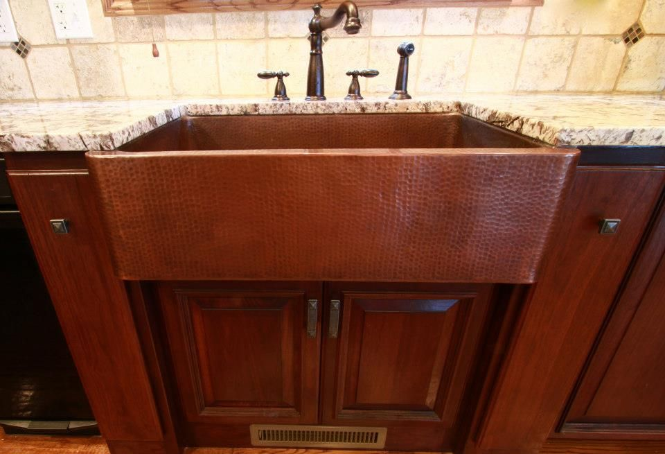 Image result for farmhouse sinks installation in cherry
