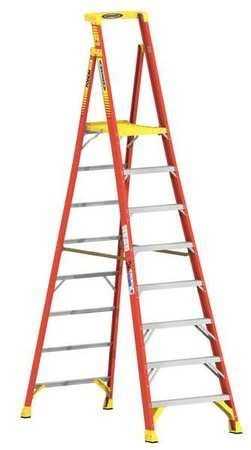 Werner Pd6208 8 Ft Type Ia Fiberglass Podium Ladder As Shown Step Ladders Ladder Fiberglass