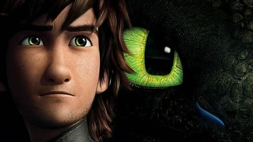 Hiccup's eyes are so pretty! They kind of match Toothless's eyes