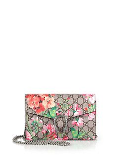 83dafd6aa6f Gucci - Dionysus Geranium-Print Coated Canvas Chain-Strap Wallet ...