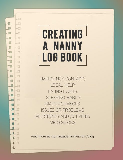 CreatingANannyLogBook  Nanny    Logs Create And Books