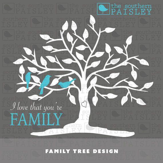 Family Tree Design Svg Eps Dxf Ai For Silhouette Studio